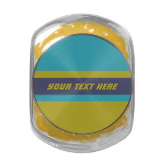 Custom Tri-Color jars & tins Glass Candy Jar
