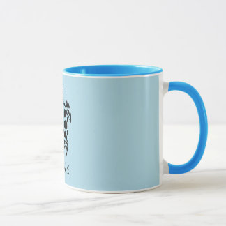 Custom Tribal Sea Turtle Light Blue Mug