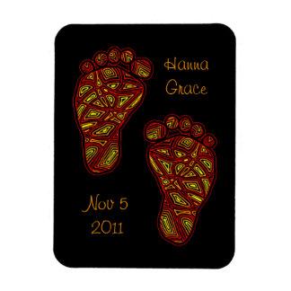 Custom Tribal Toes Baby Feet Flexible Magnet