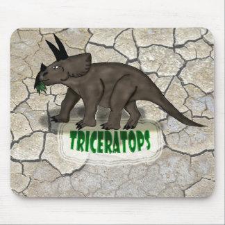 Custom Triceratops dinosaur Mouse Pads