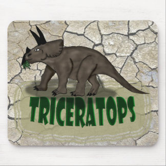 Custom Triceratops dinosaur Mouse Pad