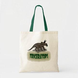 Custom Triceratops dinosaur Tote Bag
