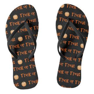 Custom Trick-or-Treat Halloween Flip-Flops Flip Flops