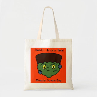Custom Trick Or Treat Young Frankenstein Monster Tote Bag