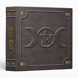 Custom Triple Moon Pentacle Book of Shadows Binder