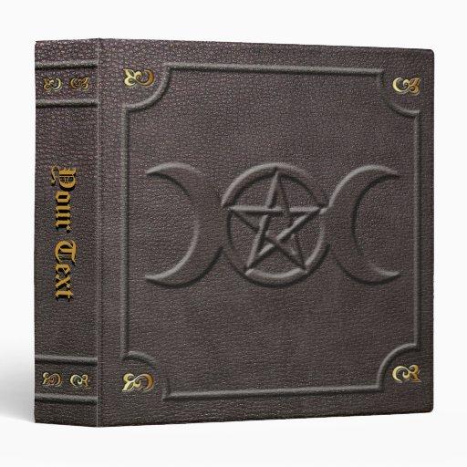 Custom Triple Moon Pentacle Book of Shadows 3 Ring Binder