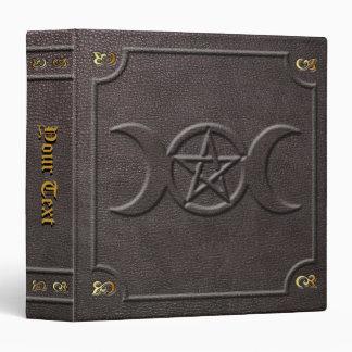 Custom Triple Moon Pentacle Book of Shadows Vinyl Binder