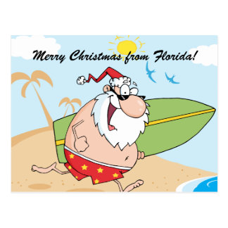 Custom Tropical Christmas Postcards
