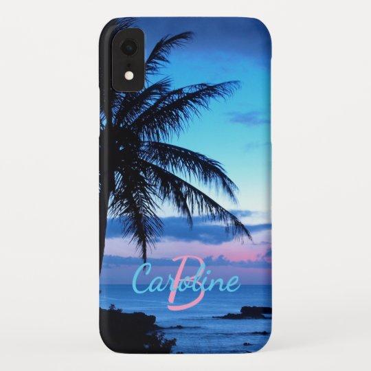 Custom Tropical Island Beach Ocean Sunset Photo Case Mate Iphone Case