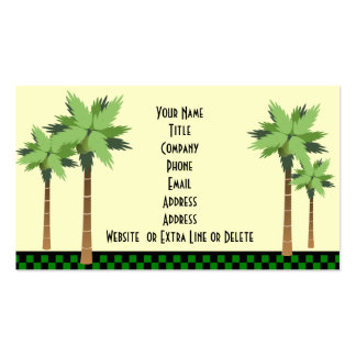 Custom Tropical Island Palm Tree Ocean Beach Theme Business Card Templates