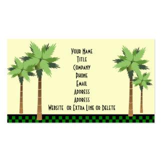 Custom Tropical Island Palm Tree Ocean Beach Theme Double-Sided Standard Business Cards (Pack Of 100)