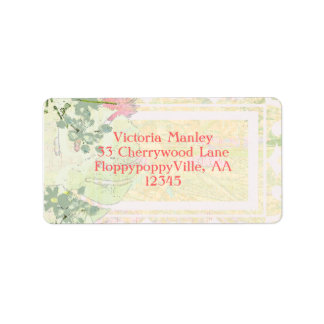 Custom Tropical Victorian Bridal Adhesive - Label