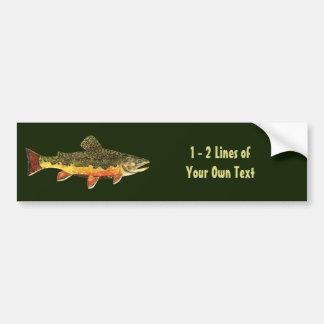 Custom Trout Fisherman's Bumper Sticker