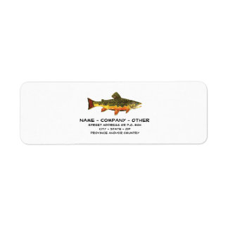 Custom Trout Fisherman's Label