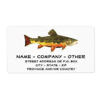 Custom Trout Fisherman's Shipping Label