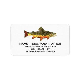 Custom Trout Fisherman's Address Label