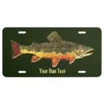 Custom Trout Fisherman's License Plate