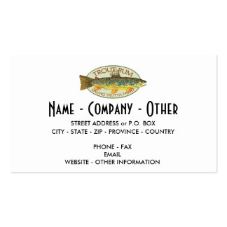 Custom Trout Fishing Business Cards