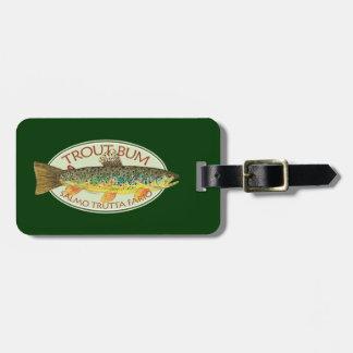 Custom Trout Fishing Luggage Tag