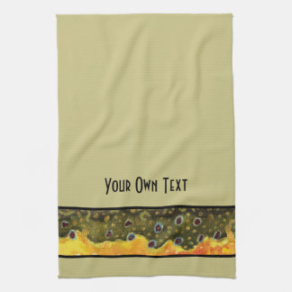 Custom Trout Fly Fishing Angler's Kitchen Towel