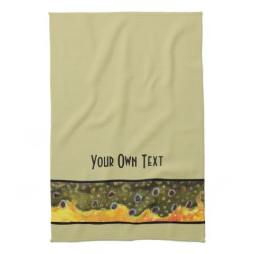 Professional Business Custom Trout Fly Fishing Angler's Kitchen Towel