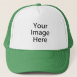 "Custom Trucker Hat<br><div class=""desc"">Create your own photo trucker hat. Use the design tool to upload your art, designs, or photos to create a unique photo trucker hat! You can also add text using cool fonts and see a preview of your creation! Our simple to personalize photo trucker hat has no minimum orders &...</div>"