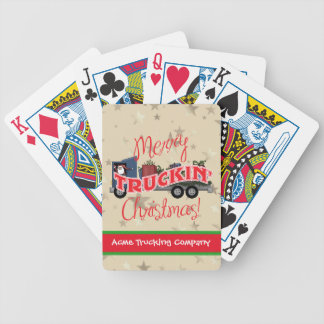 Custom Trucking Company Playing Cards Gift