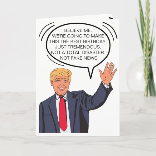 Custom Trump_isms Birthday Card