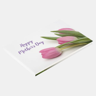 Custom Tulips Happy Mother's Day Guest Book