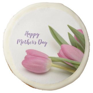 Custom Tulips Happy Mother's Day Sugar Cookie