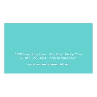 Custom Turquoise Acqua Blue Business Card