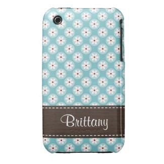 Custom Turquoise Blue Red Daisy iPhone 3 Case Cove casematecase