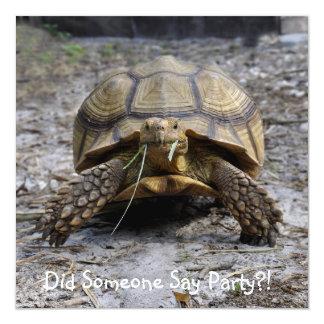 Custom Turtle Invitation