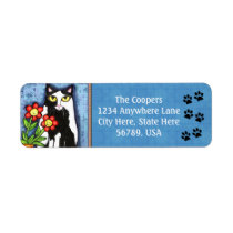 Custom Tuxedo Cat Art Return Address Labels