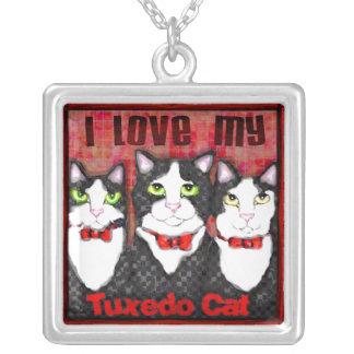 Custom Tuxedo Cat Lover Necklace
