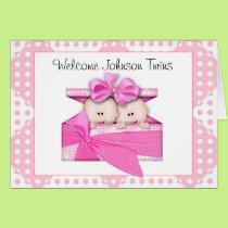 Custom  Twin Girls Greeting Card