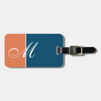 Custom Two Color Orange Blue Bag Tag