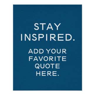 Custom Typography Poster Inspirational Quote