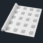 "Custom Tyvek Wrapping Paper<br><div class=""desc"">Create your own custom tyvek wrapping paper</div>"