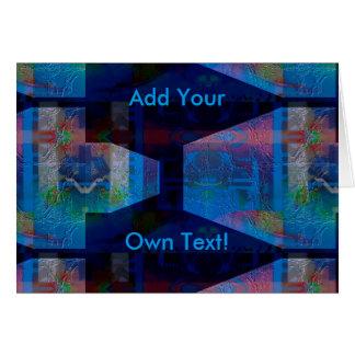 Custom Ultraviolet Art Greeting Card