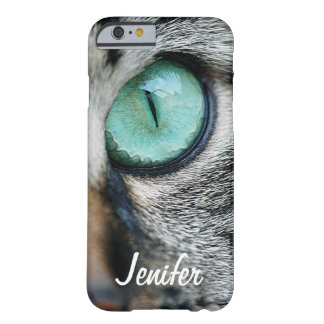 Custom Unique Green cat's eye close up Barely There iPhone 6 Case