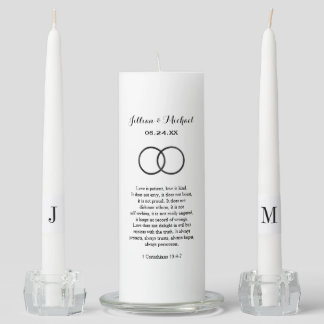Custom Unity Candle Set | Corinthians in Black
