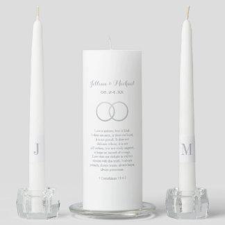 Custom Unity Candle Set | Silver Corinthians