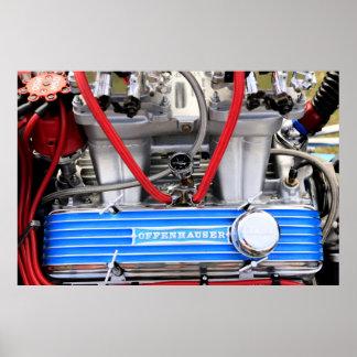Custom V8 Engine Poster