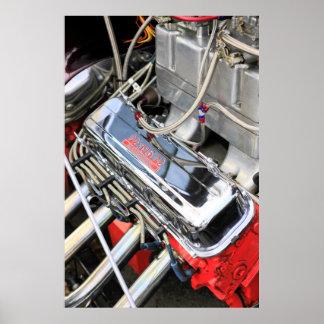 Custom V-8 Hot Rod Engine Poster
