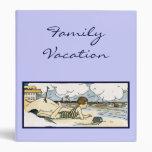 Custom Vacation Beach Art Binder