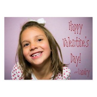 Custom Valentine for Kids With Word Search Large Business Card