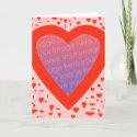 Custom Valentine's Day Card - 1 card