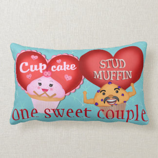 Custom Valentines Day Cupcake Muffin Couple Pillow