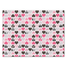 Custom Valentine's Day Heart Photo Collage Tissue Paper